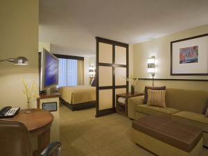 Guest room at Hyatt Place Minneapolis Airport – South.