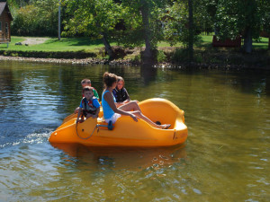 Paddle boat at Birch Forest Lodge.