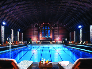 Indoor pool at Fairmont Le Chateau Montebello.