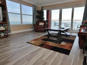 Rental living room at Teeming Vacation Rentals.