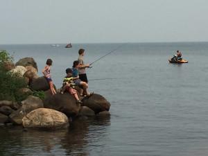 Fishing at The Red Door Resort.