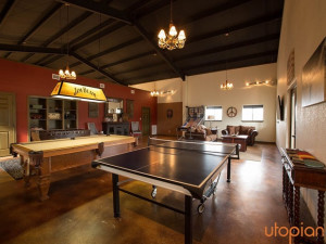 Rental game room at Utopian Austin Vacation Rentals.