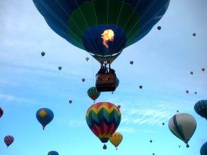 Hot air balloon festival at Hacienda Vargas Bed and Breakfast.
