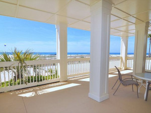 Porch view at Royal Beach Rentals.