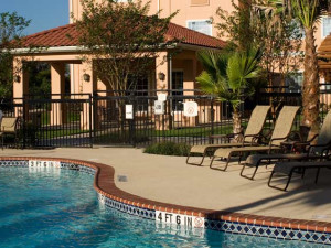 Outdoor pool at TownePlace Suites San Antonio Northwest.