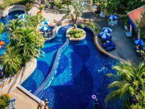 Outdoor pool at Royal Paradise.