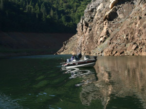 Fishing at Lake Oroville.
