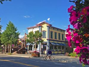 Main Street in Breckenridge in the summer
