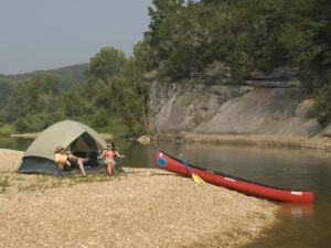 Canoeing at Buffalo River Outfitters.