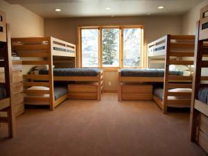 Rental bunk beds at Canyon Services Vacation Rentals.