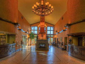 Lobby area at Riverstone Resort & Spa.
