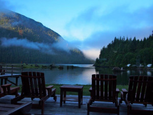 Lake view at Clayoquot Wilderness Resort.