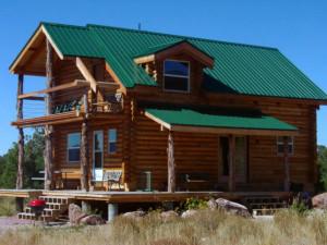 Cabin exterior at Morris' Last Resort.