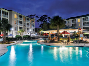 Outdoor pool at Holiday Inn Club Vacations South Beach Resort.