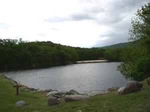 Lake view at Berkeley Springs Cottage Rentals.