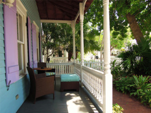 Porch view at Cypress House.