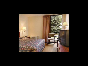 Guest room at Super 8 Arden Hills.