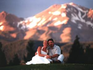 Wedding Couple at Mount Shasta Resort