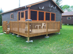 Cabin Exterior at Silv'ry Moon Lodge