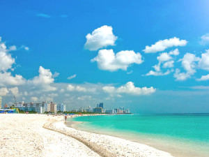 The beach at Gulf Strand Resort.