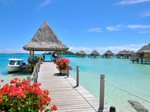 Exterior view of Bora Bora Beachcomber Inter-Continental Resort.