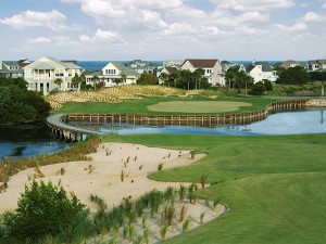 Golf course at Bald Head Island Limited.