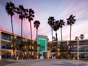 Exterior view of Marina del Rey Hotel.