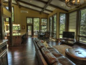 Vacation rental living room at SkyRun Vacation Rentals - Vail, Colorado.