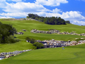 Golf course greens at La Cantera Hill Country Resort.