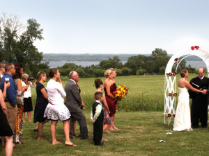 Wedding reception at Cobtree Vacation Rental Homes.
