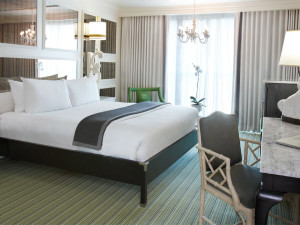 Guest room at Viceroy Santa Monica.