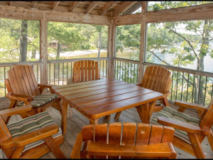 Cottage deck at The Lodge at Pine Cove.