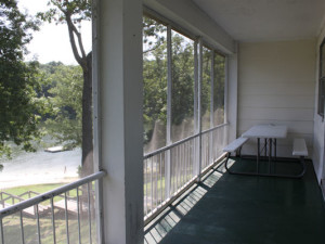 Balcony view at Kentucky Beach Resort.