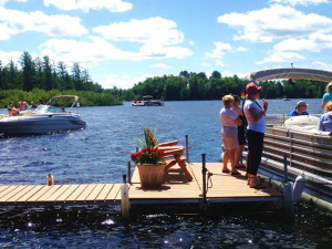 The dock at Chippewa Retreat Resort.