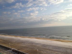 The beach at Quality Inn Boardwalk Ocean City.