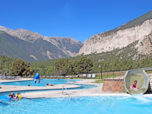 Water park at Mt. Princeton Hot Springs Resort.