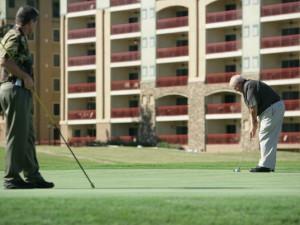 Golfing at RiverStone Resort.