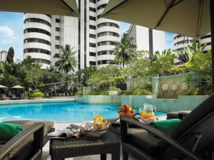 Outdoor pool at Shangri-La Hotel-Kuala Lumpur.