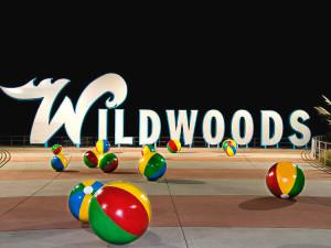 Wildwoods boardwalk near Aquarius Motor Inn.