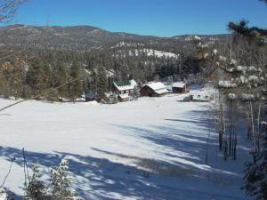 Winter time at Meadow Creek Lodge and Event Center.