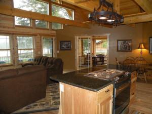 Cabin interior at Kabetogama Lake Association.