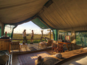 Accommodations at Desert & Delta Safaris Lodges.