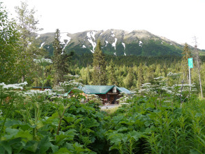 Exterior view of Gwin's Lodge & Kenai Peninsula Charter Booking Service.