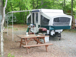 RV camping at Hemlock Campground & Cottages.