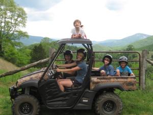 ATV at Harman's Luxury Log Cabins.