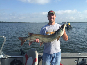 Muskie fishing at Timber Trails Resort.