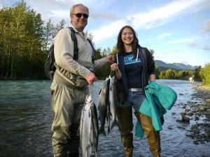 Fishing at Gwin's Lodge & Kenai Peninsula Charter Booking Service.