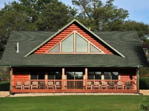 Cabin exterior at Cedar Valley Resort.