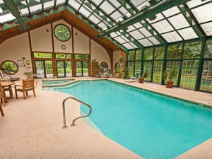 Indoor/Outdoor Pool at Stonehedge Inn and Spa.