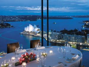 Dining at Shangri-La Hotel, Sydney.